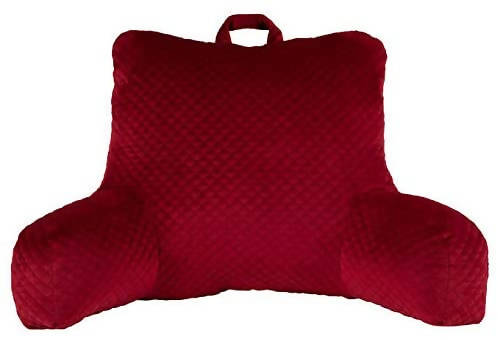 Brentwood Backrest with Ergonomic back support and armrests, the Diamond Quilted Bed Rest Pillow offers a Comfy way to sit up in bed -719029