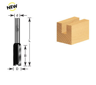 Timberline Carbide Tipped 1/4 inch Shank Straight Plunged Router Bit. Ideal for Carpenters, Woodworking Workshops and More- 100-42