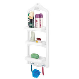 Rimax Shower Caddy White 10.4 X 5.8 X 27.6