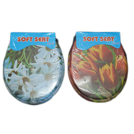Aolan Toilet Seat Soft Floral Design Assorted - 10009352