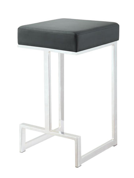 Square Counter Height Stool Black And Chrome - 105253