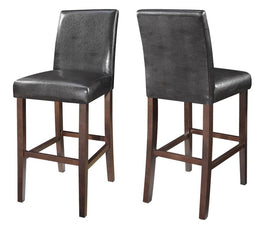 Bolt-Zero Bar Stools Dark Brown And Cappuccino (Set Of 2) -130060