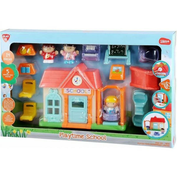 Playgo Playtime School Playset Is a toy where your child could enjoy hours of Interactive and Imaginative School -987074
