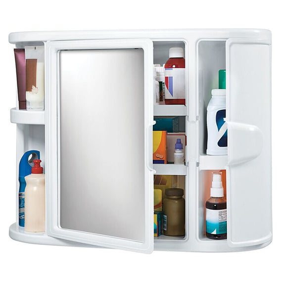 "Rimax Bathroom Wall Cabinet White 23.5 x 7.6 x 18.3"" - 20010030"