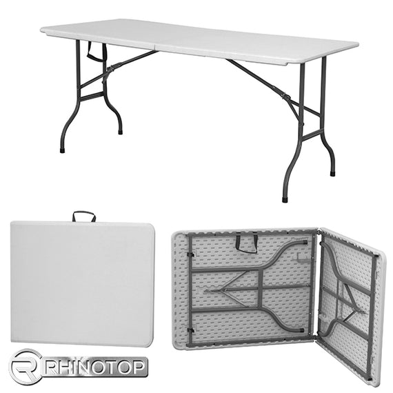 RhinoTop Heavy Duty 6Ft Folding Table HDPE Off White - 20012351