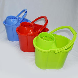 Heavy Duty, Durable, Attractive, 17 Litre, Mop Bucket with Squeezer on Wheels - CH89269