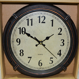 Copy of Wall Clock Round Brown 25 CM - 20013796
