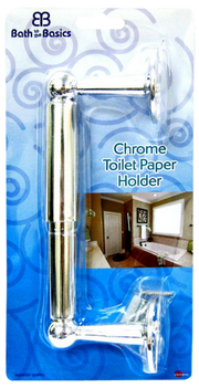 Bath To The Basics Chrome Finish Toilet Tissue Holder (CH81733)
