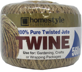 Home Style Essentials Brown, Reusable, Multipurpose 560 FT Jute Twine CH81802
