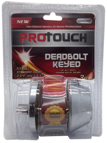 PROTOUCH Deadbolt Lock Keyed Outside For Home, Office, Front Entrance Doors CH82193