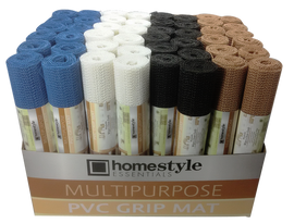 "Homestyle Essentials Shelf Liner 12""X 60"" Multi-Purpose, PVC Grip Mat, Various Colors- Each  (CH82170)"