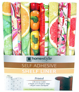 HOMESTYLE ESSENTIALS Self Adhesive Contact Paper Printed Design CH85516 (SOLD AS ASSORTED PRINTS ONLY)