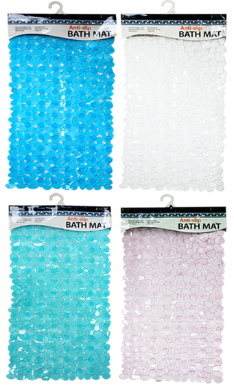 Home Style, Durable, Gripped, Translucent, Stone PVC Bathmat (CV87968)