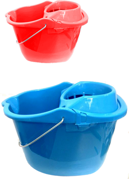 Durable, Economically Designed, Mop Bucket with Squeezer on Wheels - CH85629