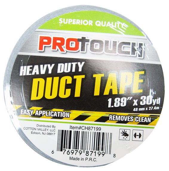"ProTouch All Purpose, Waterproof Silver Duct Tape 2"" X 30 Yard, Craft Roll, Residue Free (CH87199)"