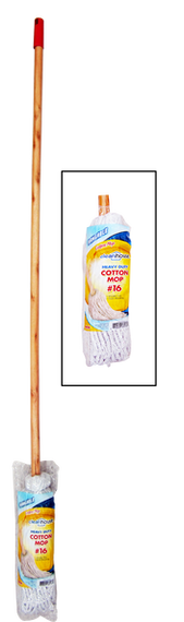 Clean House Yacht Mop with Wooden Handle (CH10021)
