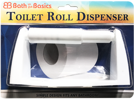Bath To The Basics Economical Plastic Finish Toilet Tissue Holder CH81732
