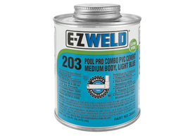 E-Z WELD - Pool Pro Combo PVC Cement 203 medium body PVC/uPVC cement for use on pipes 120/240/475/947ml
