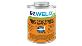 E-Z WELD - Orange, Heavy Body, CPVC Cement 786 for use on pipes 120/240/475/947ml