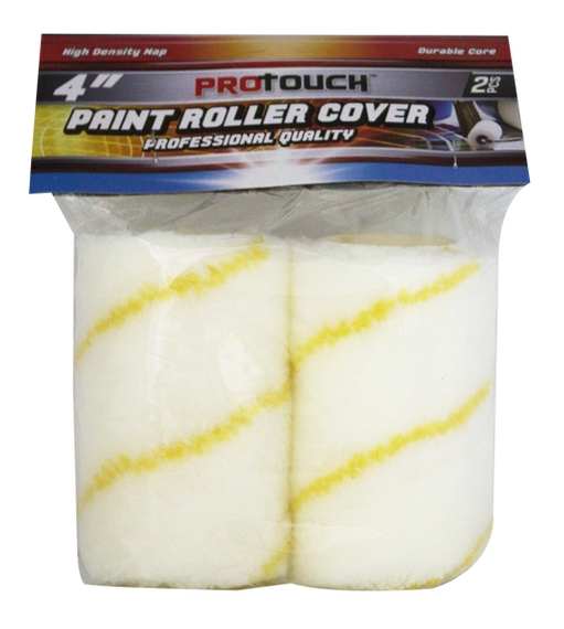 "ProTouch Professional Quality Replacement 4"" Acrylic Roller 2 Pc Refill. Ideal for  Latex and Oil-Based Paints, Primers, Stains, Clears and More - CH91132"