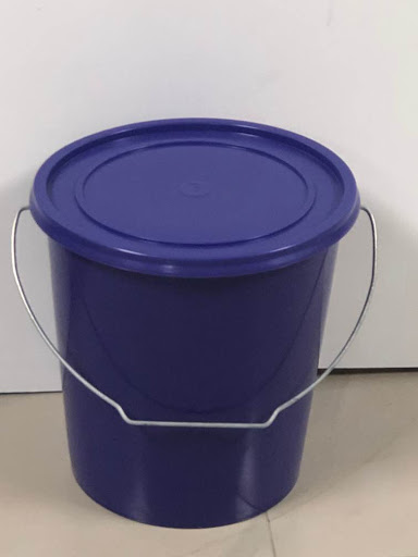 Mega 10 Litres Plastic Bucket with Covers, Ideal for Liquid & Dry Storage - 10LITREBUCKET