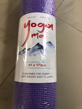 Yoga Mat - 61 CM x 173 CM, Two Colors, Comfortable, Soft, Light Weight, Easy To Clean - LE0051