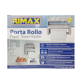 Rimax Triple Paper Holder, Beige, Plastic, Durable, Kitchen Accessory, 13.8 Inches x 3.8 Inches x 10.8 Inches - 11370