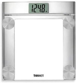 Conair Thinner Digital Precision Chrome and Glass Bathroom Scale features a multiple load cell system for best accuracy over time. Elegant glass and chrome design fits any decor. Weight displays in 0.2lb, up to 400lbs -- C-TH360