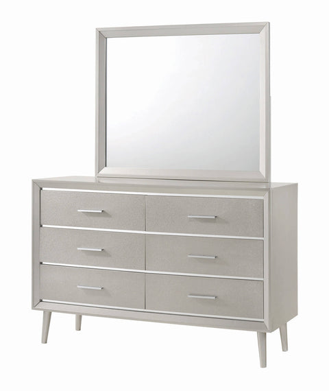 Ramon 6-Drawer Dresser Metallic Sterling - 222703