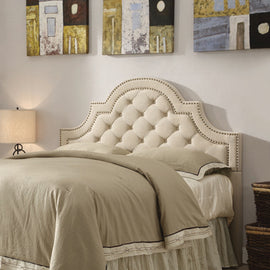 Ojai Queen And Full Tufted Upholstered Headboard Beige - 300442QF
