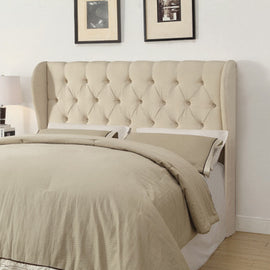 Murrieta Queen/Full Tufted Upholstered Headboard Beige - 300444QF