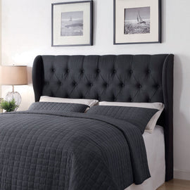 Murrieta Queen/Full Tufted Upholstered Headboard Charcoal - 300445QF