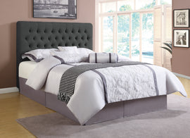 Chloe Tufted Upholstered Eastern King Bed Charcoal - 300529KE