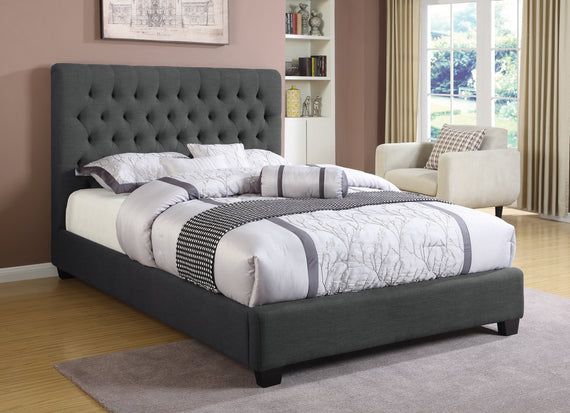 Chloe Tufted Upholstered Queen Bed Charcoal - 300529Q