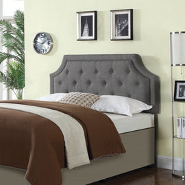 Rutherford Queen And Full Tufted Upholstered Headboard Grey - 301023QF