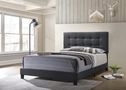 Mapes Tufted Upholstered Queen Bed Charcoal - 305746Q