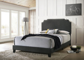 Tamarac Upholstered Nailhead Queen Bed Grey - 310063Q