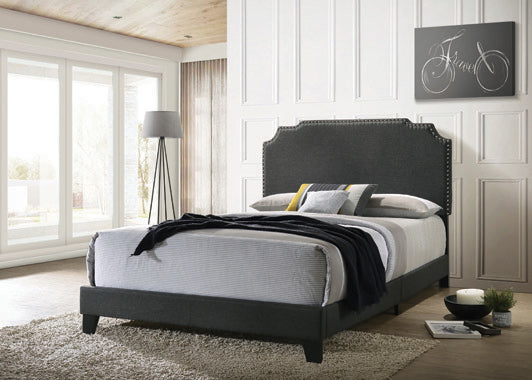 Tamarac Upholstered Nailhead Eastern King Bed Grey - 310063KE