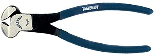 "Toolcraft 8"" (203mm) Cutter Plier Nipper,  made of carbon steel, handles covered with non-slip vinyl, polished body, ideal for tying and cutting wire in construction - TC0307"