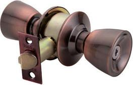 RAIDER Cylindrical Entrance Lock Door Knob 3201 Antique Copper (AC) for Office or Front Door