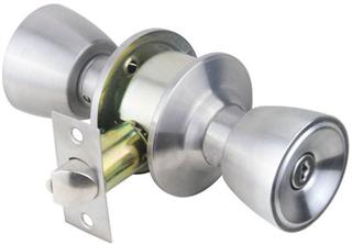 RAIDER Cylindrical Entrance Lock Door Knob 3201 Satin Stainless Steel (SS) for Office or Front Door