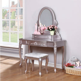 Caroline 1-Drawer Vanity Desk Metallic Lilac - 400896