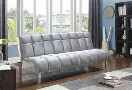 Vanessa Button Tufted Sofa Bed Silver - 360002