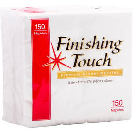 Finishing Touch Dinner Napkin 3-Ply 150 napkins / Innoware / 288644