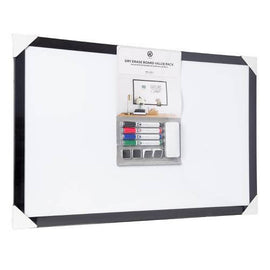 "U Brands Dry Erase Board Value pack 35"" ×23"" Is a perfect and Functional Solution for the occasional and light usage areas for your Office, School classroom, Home or any Commercial Space-809199"