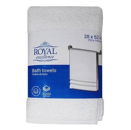 Royal Excellence White Color 100% Cotton. Dimensions: 25