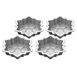 Cuisinart 4 piece Mini Snowflake Set has a unique and elegant snowflake design and shape for every cake lover to indulge - CU-CMBM-4SFK