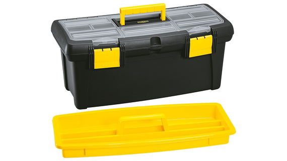 "Rimax 22"" Plastic Storage Toolbox with Organizer. Heavy Duty And Durable, Ideal for Car, Garages, Craftsmen, Tradesmen and Many More-20011470"