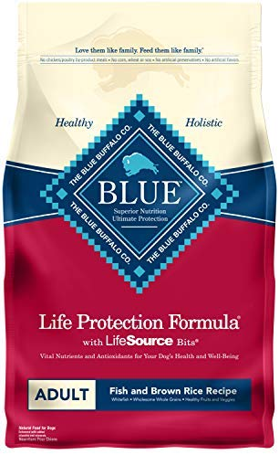 Blue Buffalo Life Protection Formula Adult Dog Food Natural Dry Dog Food for Adult Dogs Chicken and Brown Rice 30 lb. Bag: Pet Supplies