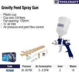 Tool Craft Gravity Spray Paint Gun - TC4839